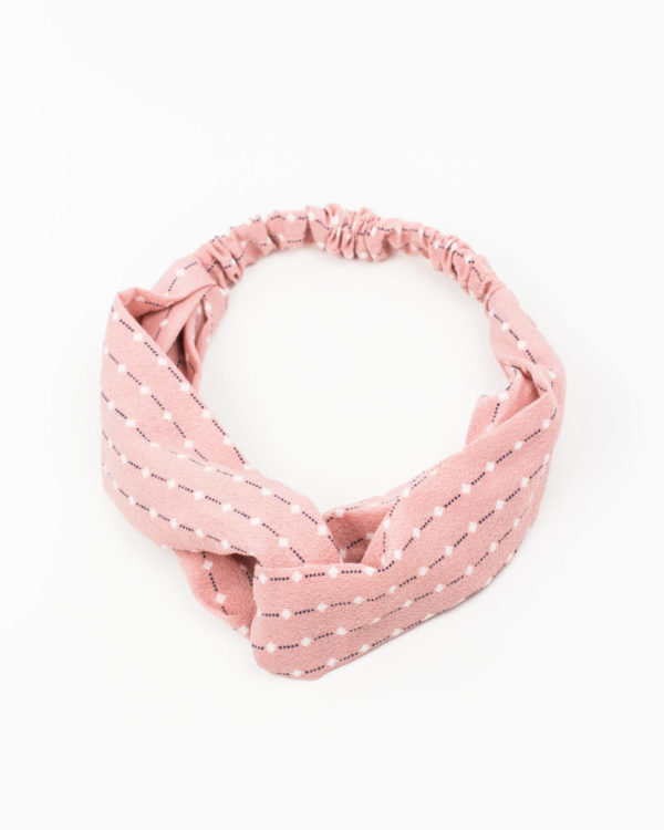 headband rose et blanc