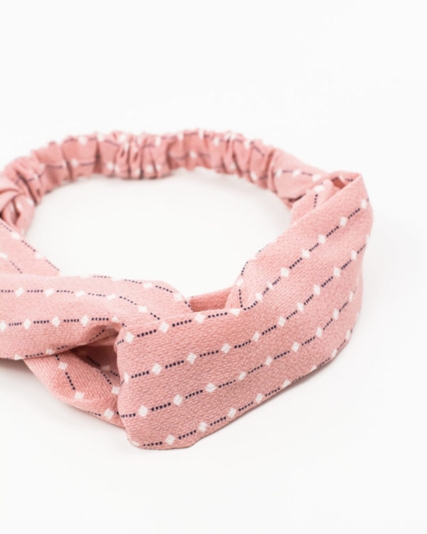 headband rose points blancs