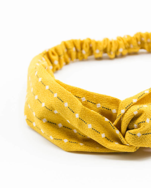 Headband jaune points blancs