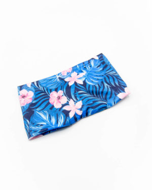 bandeau cheveux large motif jungle